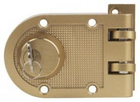 Surface mounted deadbolt lock